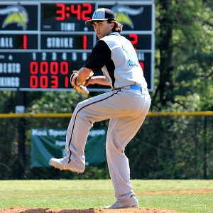 Whitman junior Alex Cladouhos pitched five shutout innings in the Vikings win over Paint Branch